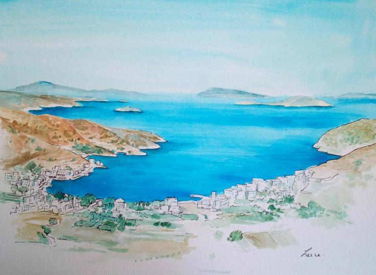 Amorgos, baie de Katapola