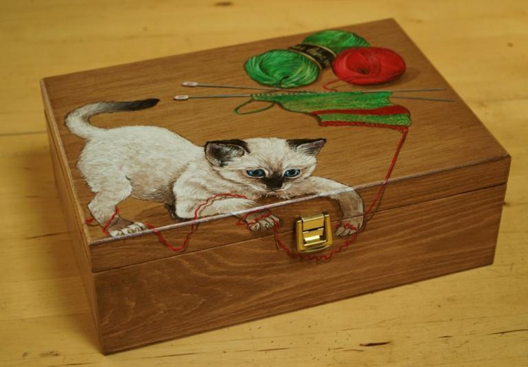 boite à couture chaton -