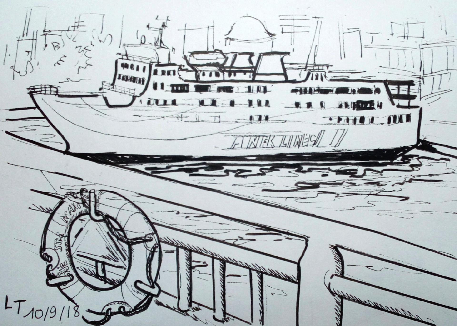 départ pour Amorgos