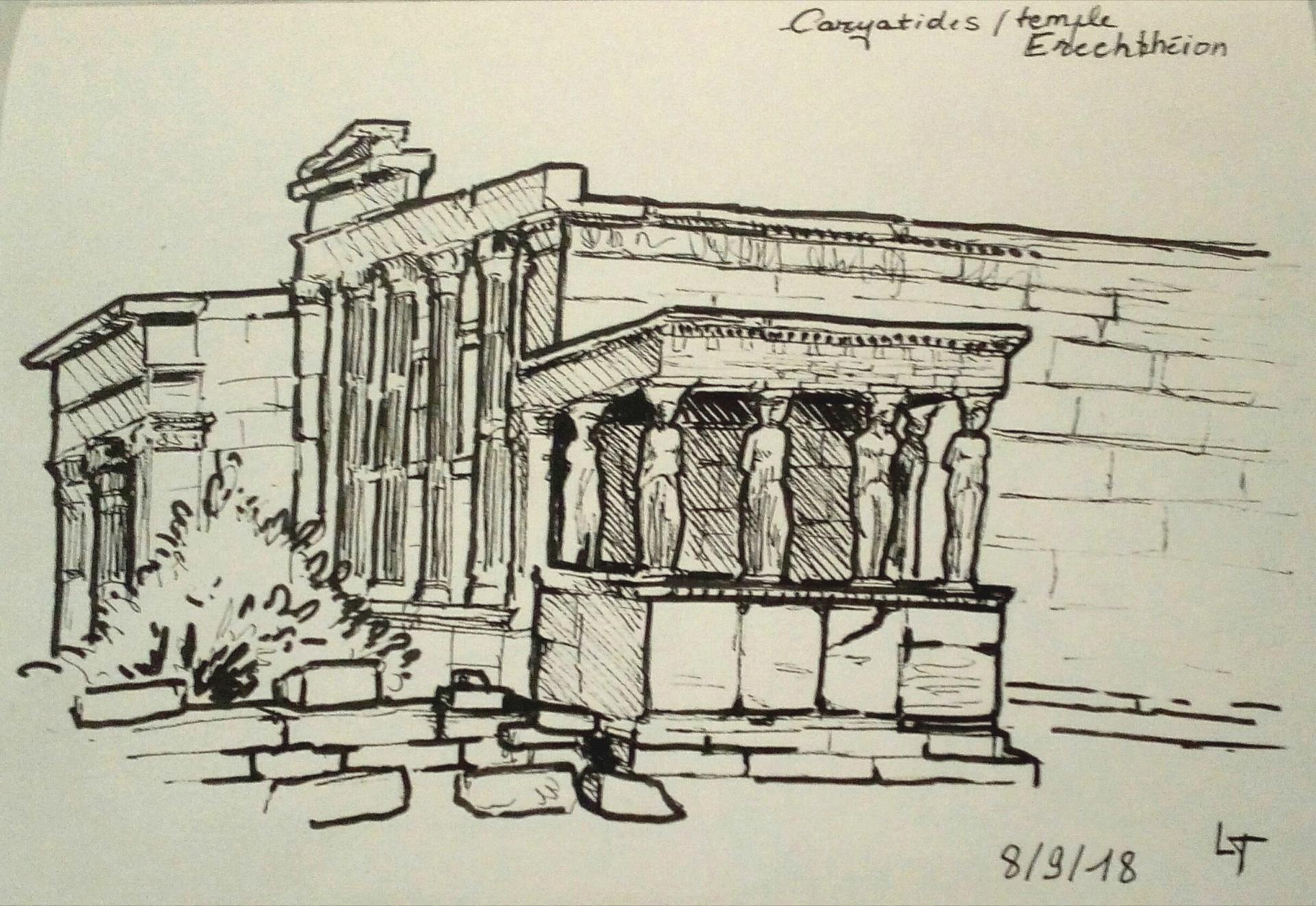 Athènes, les Caryatides