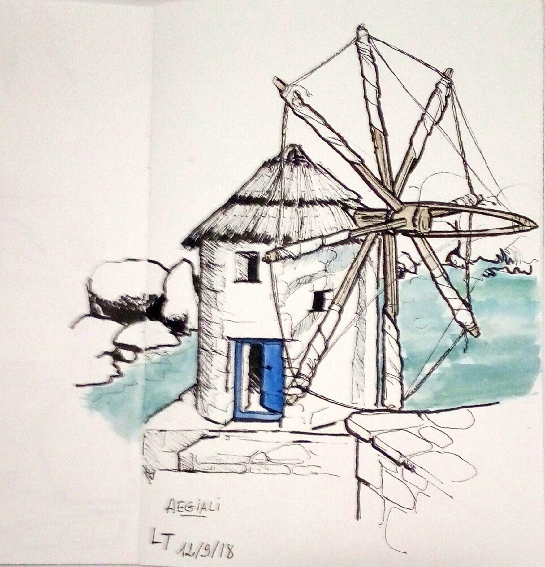 Amorgos, Moulin d'Aeghiali