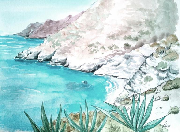 Amorgos,plage de Mouros